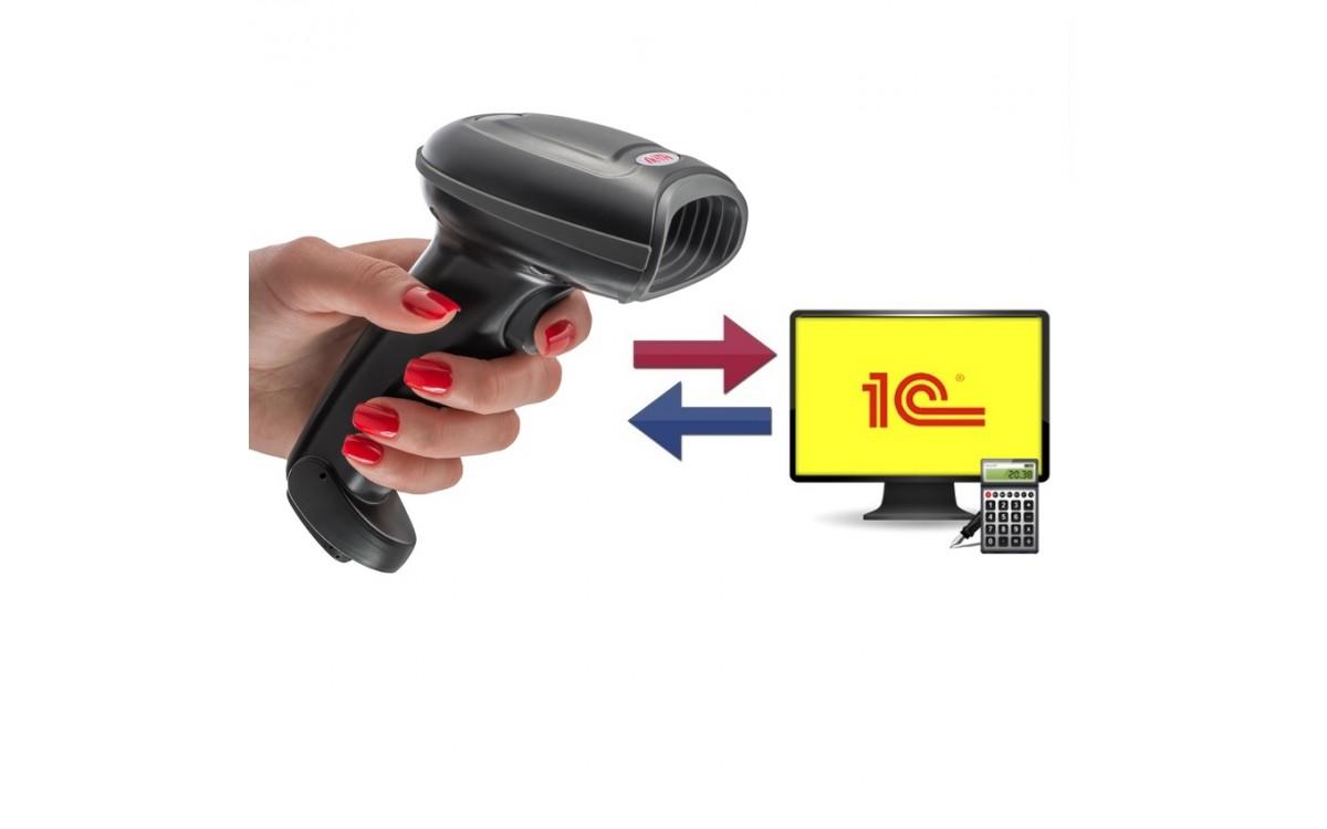 Подключение сканера штрих кода к 1С и настройка